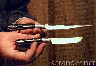 Művészien kidolgozott kés - Forrás: serander.net